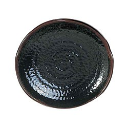 "Thunder Group 1812TM Tenmoku Lotus Shape Melamine Plate 12"""