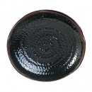 Temoku Ripple Edge Melamine Platter - 14
