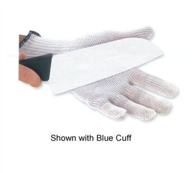 The Protector Cut Resistant Large Glove With Blue Cuff