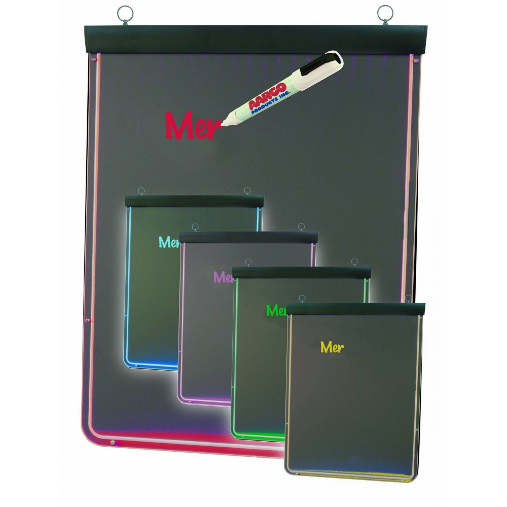 The Ultra Lite Lighted Write-On Markerboard