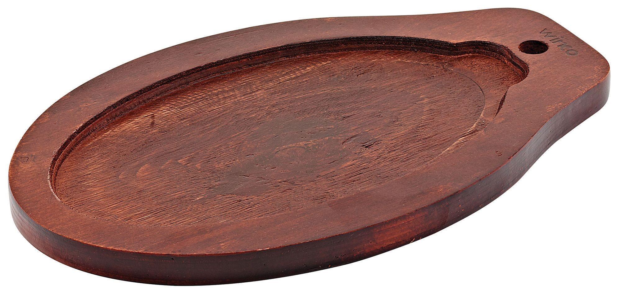 Winco ISP-3-UL Thermal Oval Wooden Underliner for ISP-3 Steak Platter