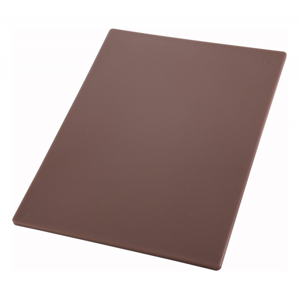 Thick Brown Cutting Board - 18 X 24 X 1/2 (Cooked Meats Board)