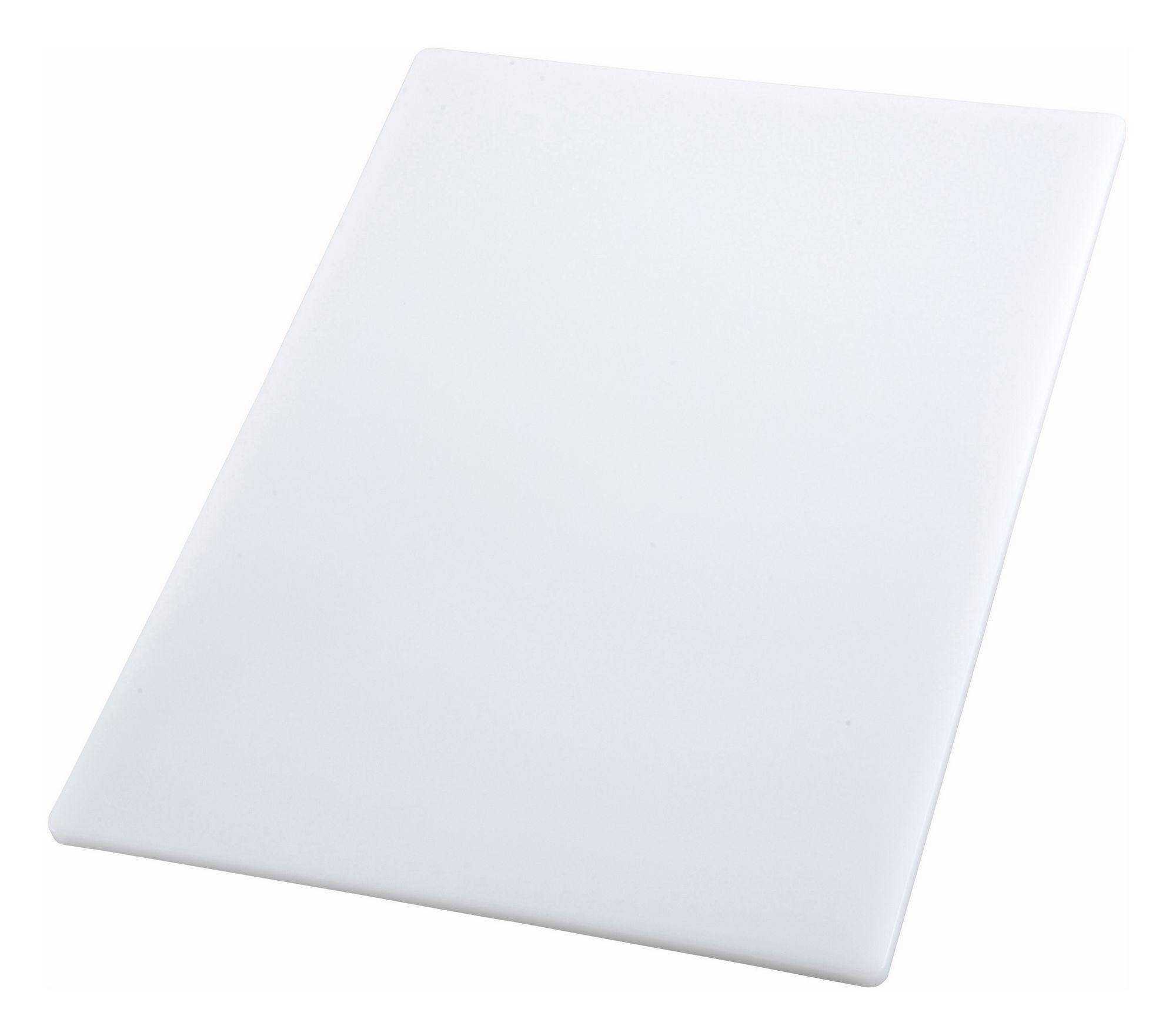 "Winco CBWT-1520 White Cutting Board 15"" x 20"" x 1/2"""