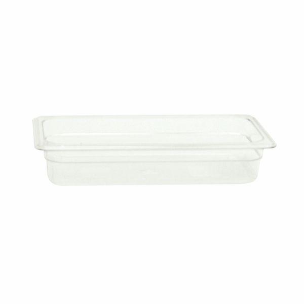 "Thunder Group PLPA8132 Third Size 2 1/2"" Deep Plastic Food Pan"