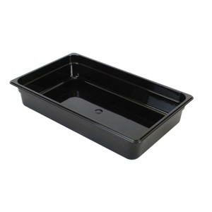 "Thunder Group PLPA8132BK Third Size 2 1/2"" Deep Plastic Food Pan, Black"