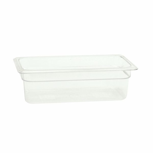 "Thunder Group PLPA8134 Third Size 4"" Deep Plastic Food Pan"