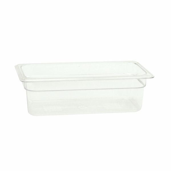 "Thunder Group PLPA8134 Third Size 4"" Deep Plastic Food Pan"