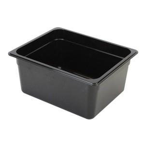 "Thunder Group PLPA8134BK Third Size 4"" Deep Plastic Food Pan, Black"