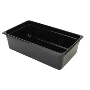 Thunder Group PLPA8136BK Third Size Plastic Food Pan, Black