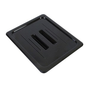 Thunder Group PLPA7130CBK Third Size Black Solid Cover for Polycarbonate Food Pan
