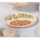 Thunder Group NS702T Nustone Tan Melamine Three-Compartment Plate 10""