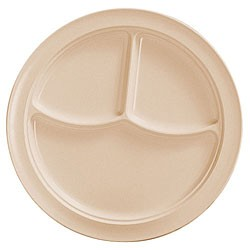 Thunder Group NS703T Nustone Tan Melamine Three-Compartment Plate 10-1/4""