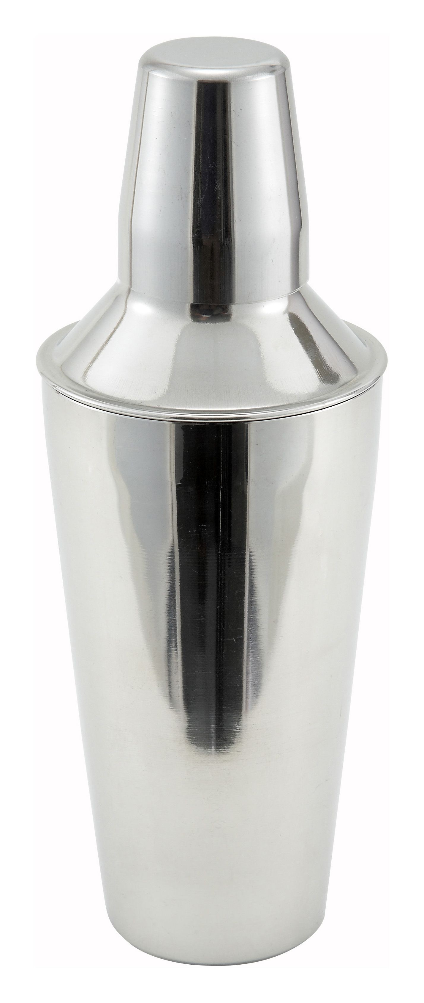 Winco BS-3P 3-Piece Stainless Steel 28 oz. Bar Shaker Set