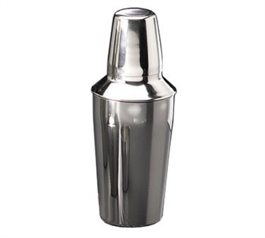 Three-Piece Stainless Steel 16 Oz. Bar Shaker Set