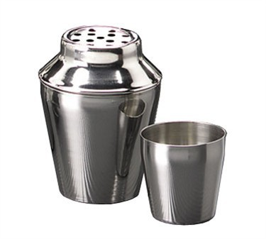 TableCraft 375 Three-Piece Stainless Steel 8 oz. Bar Shaker Set