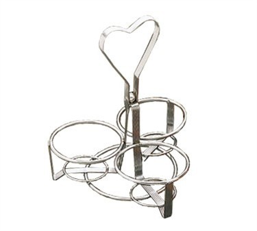 TableCraft 1370R 3-Ring Chrome Plated Dispenser Rack