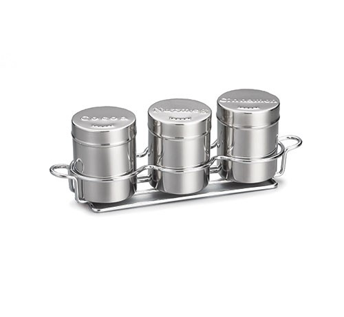 TableCraft 758x 3-Piece 6 Oz. Seattle Series Shaker Set with Chrome Rack