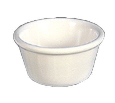 Thunder Group ML538B1 Bone White Melamine 4 oz. Smooth Ramekin