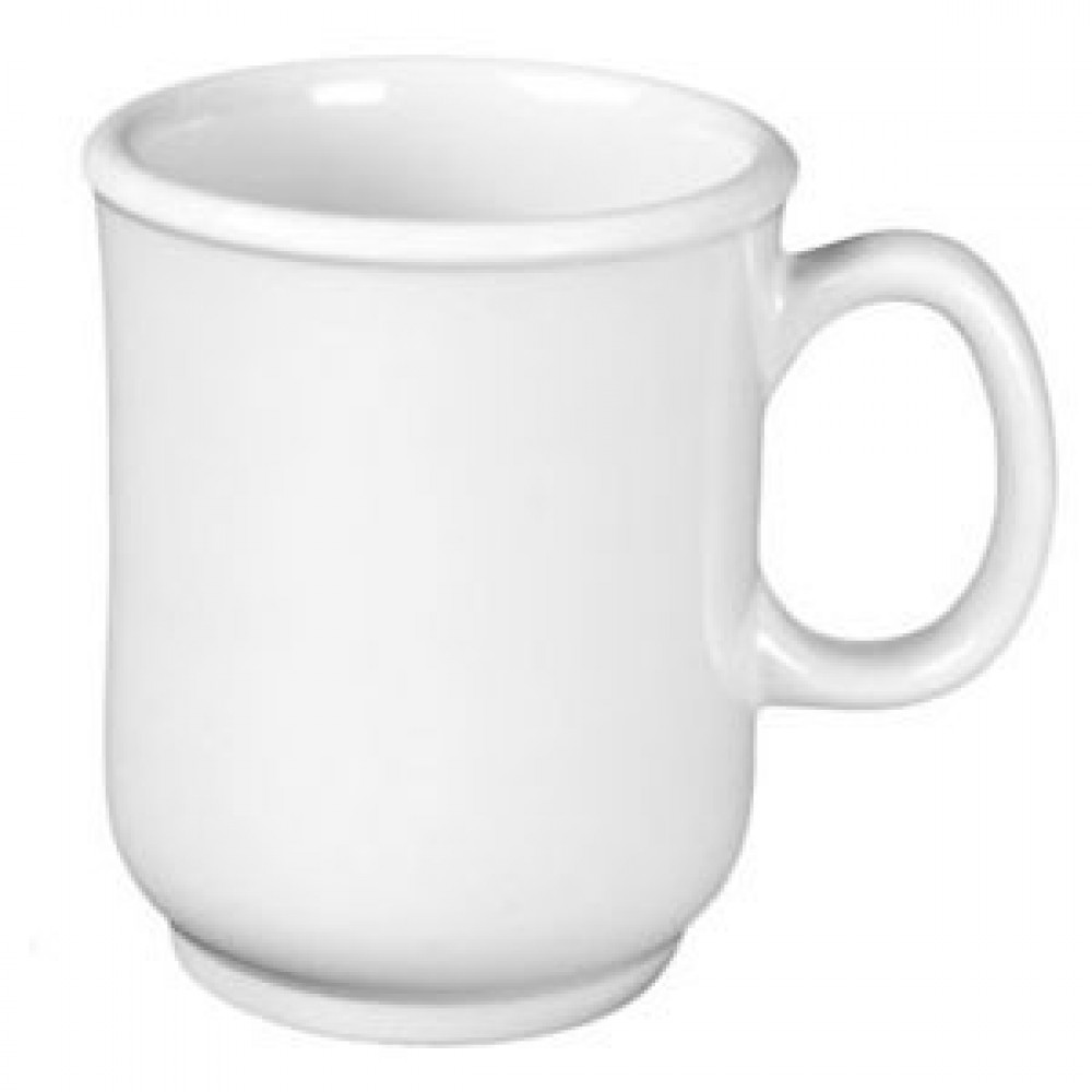 Thunder Group ML901W Nustone White Bulbous Mug With Handle, 8 oz.