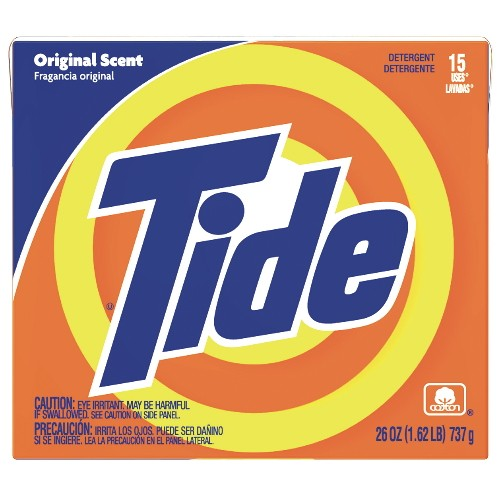 Tide Hi-Power Laundry Detergent Box, 26 Oz