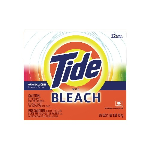 Tide Hi-Power Laundry Detergent with Bleach Box, 26 Oz