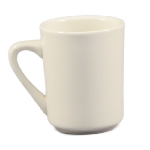 CAC China TM-8-W Las Vegas White Tierra Mug 8 oz.