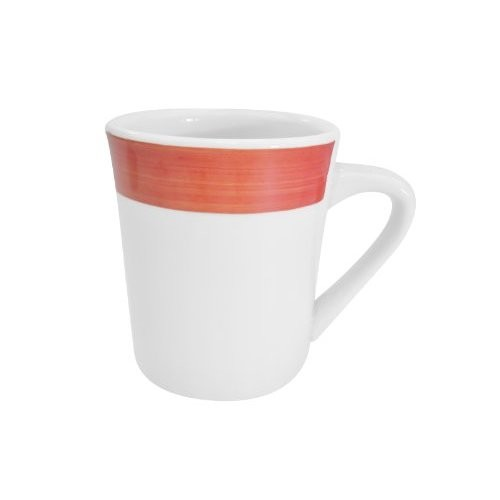CAC China R-17-RED Rainbow Red Tierra Mug 8.5 oz.