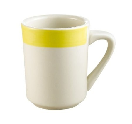 CAC China R-17-Y Rainbow Yellow Tierra Mug 8.5 oz.