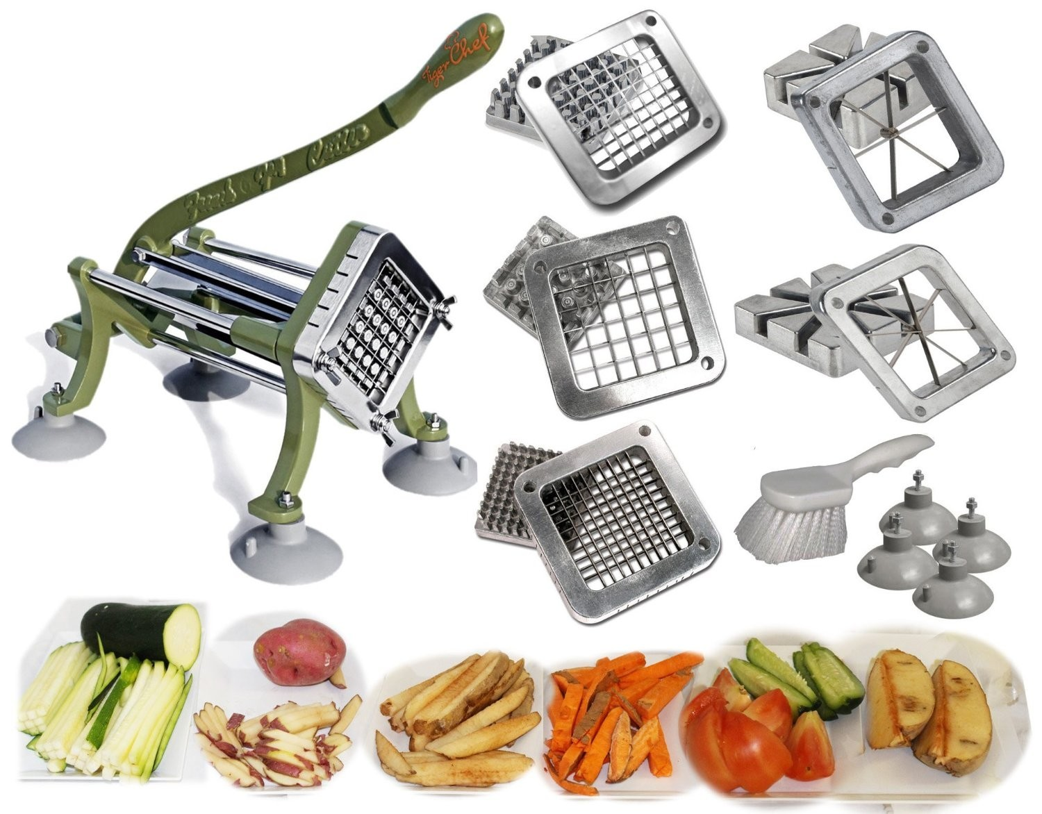 TigerChef Complete Set, Heavy Duty French Fry Cutter