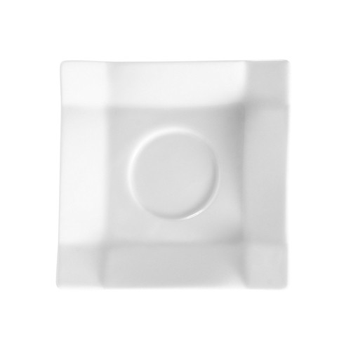 "CAC China TMS-36 Timesquare 4"" Square Saucer"