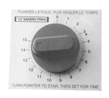 Franklin Machine Products  184-1073 Timer, 15 Min (with Knob & Plate )
