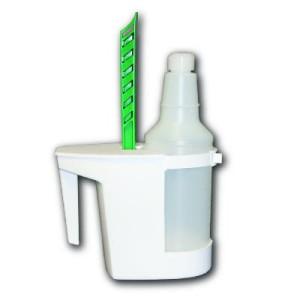 Toilet Caddy & Brush, White, Caddy: 8-In Length x 4-In Wide, Brush: 6-In. Length