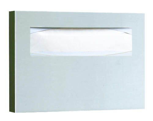 Toilet Seat Cover Dispenser, 15-3/4 x 2 x 11, Satin Stainless Steel
