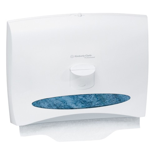 Toilet Seat Cover Dispenser, Push Lever, White, 15.500 x 20 x 5.563