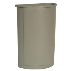 Touch-Free Half Round Receptacle, 21 Gallon, Beige