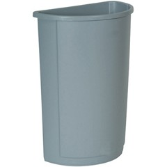 Touch-Free Half Round Receptacle, 21 Gallon, Gray