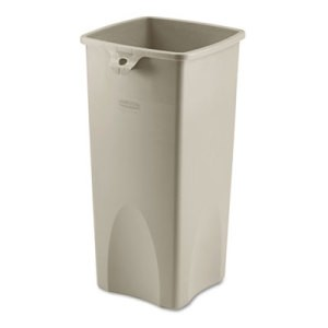Touch-Free Square Receptacle, 23 Gallon, Beige