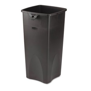 Touch-Free Square Receptacle, 23 Gallon, Black