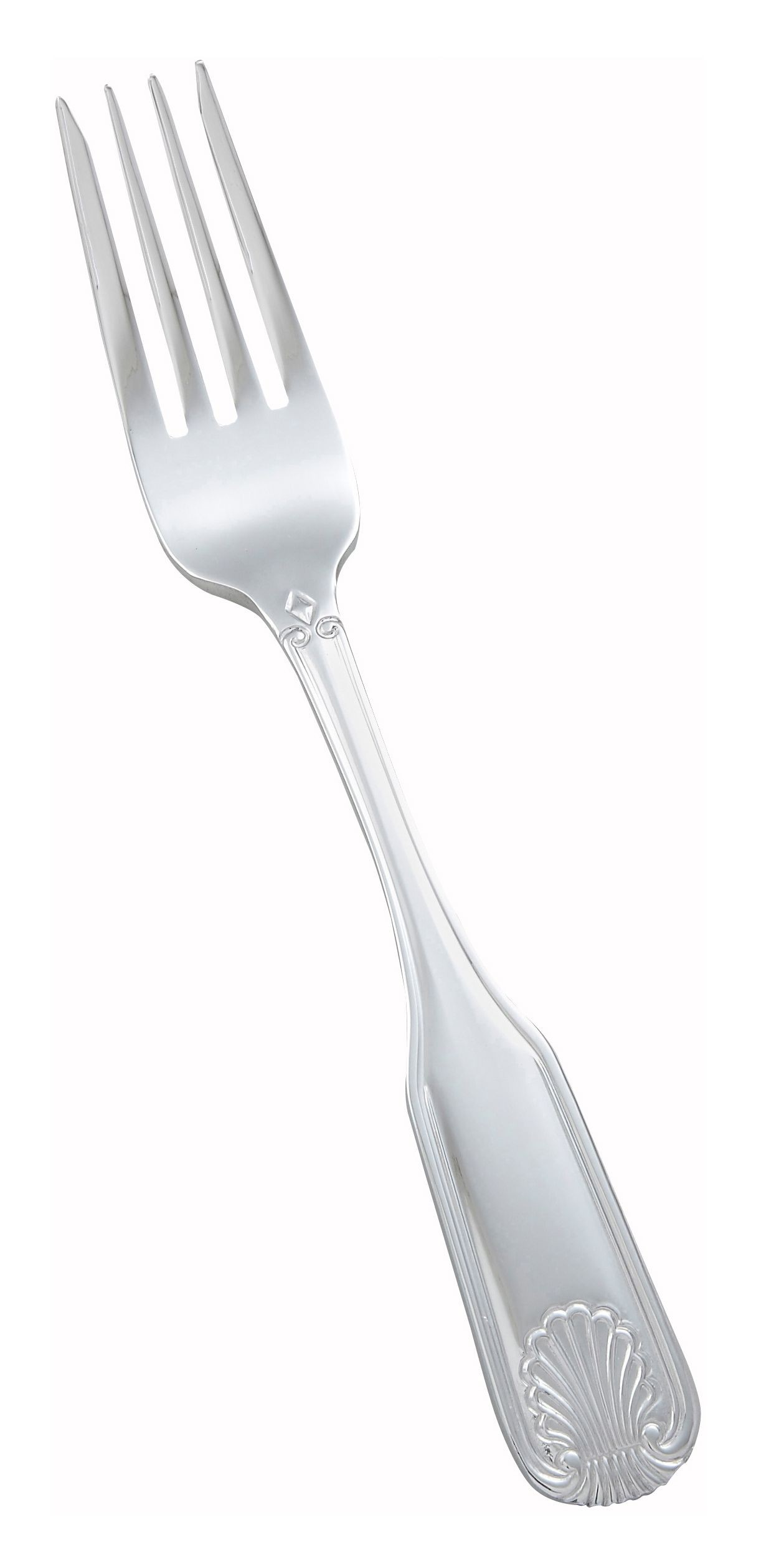 Winco 0006-06 Toulouse Heavy Mirror Finish Stainless Steel Salad Fork (12/Pack)