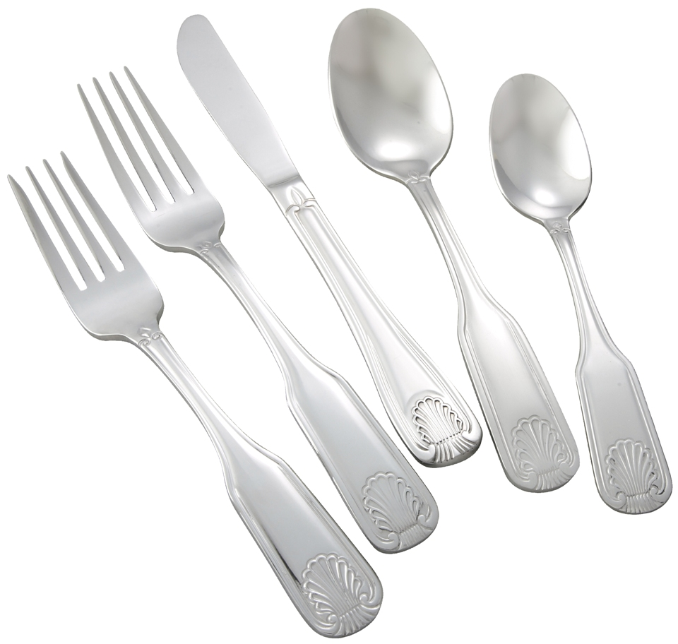 Winco TOULOUSE-HVY Toulouse Heavy Weight 5-Piece Place-Setting for 12 (60/Pack)