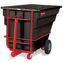Towable Tilt Truck, Rectangular, Plastic, 2100-lb Cap., Black
