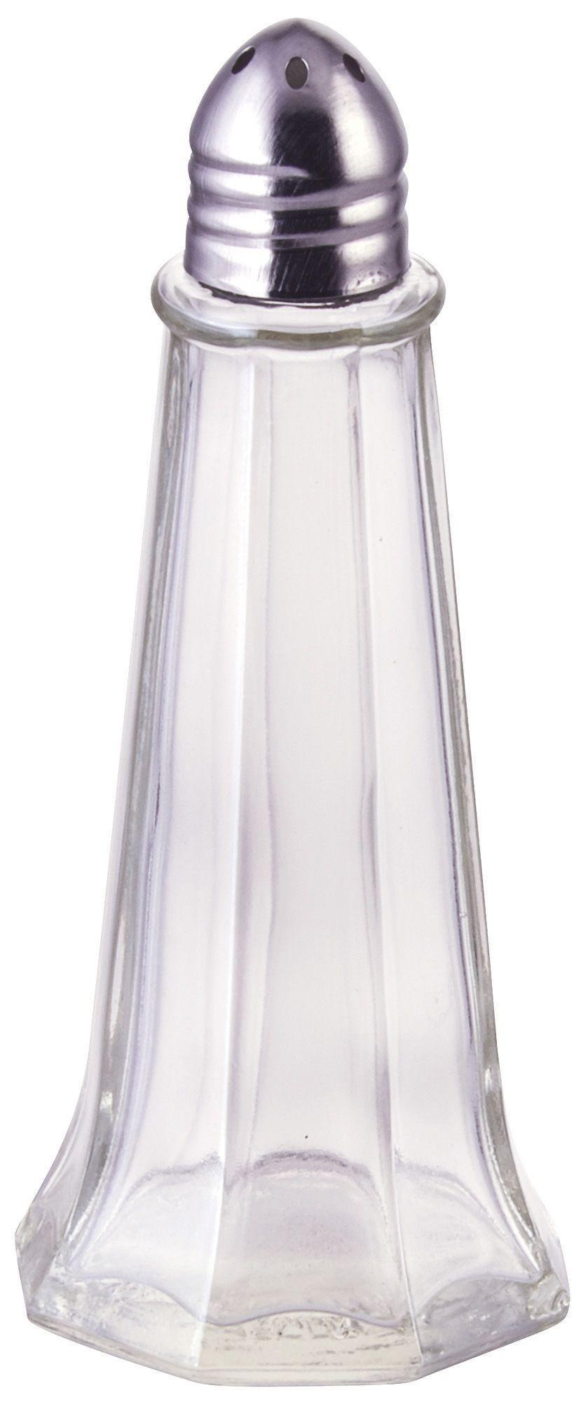 "24 Nostalgic Square Design Glass Salt /& Pepper Shakers case /""Free Shipping!/"""