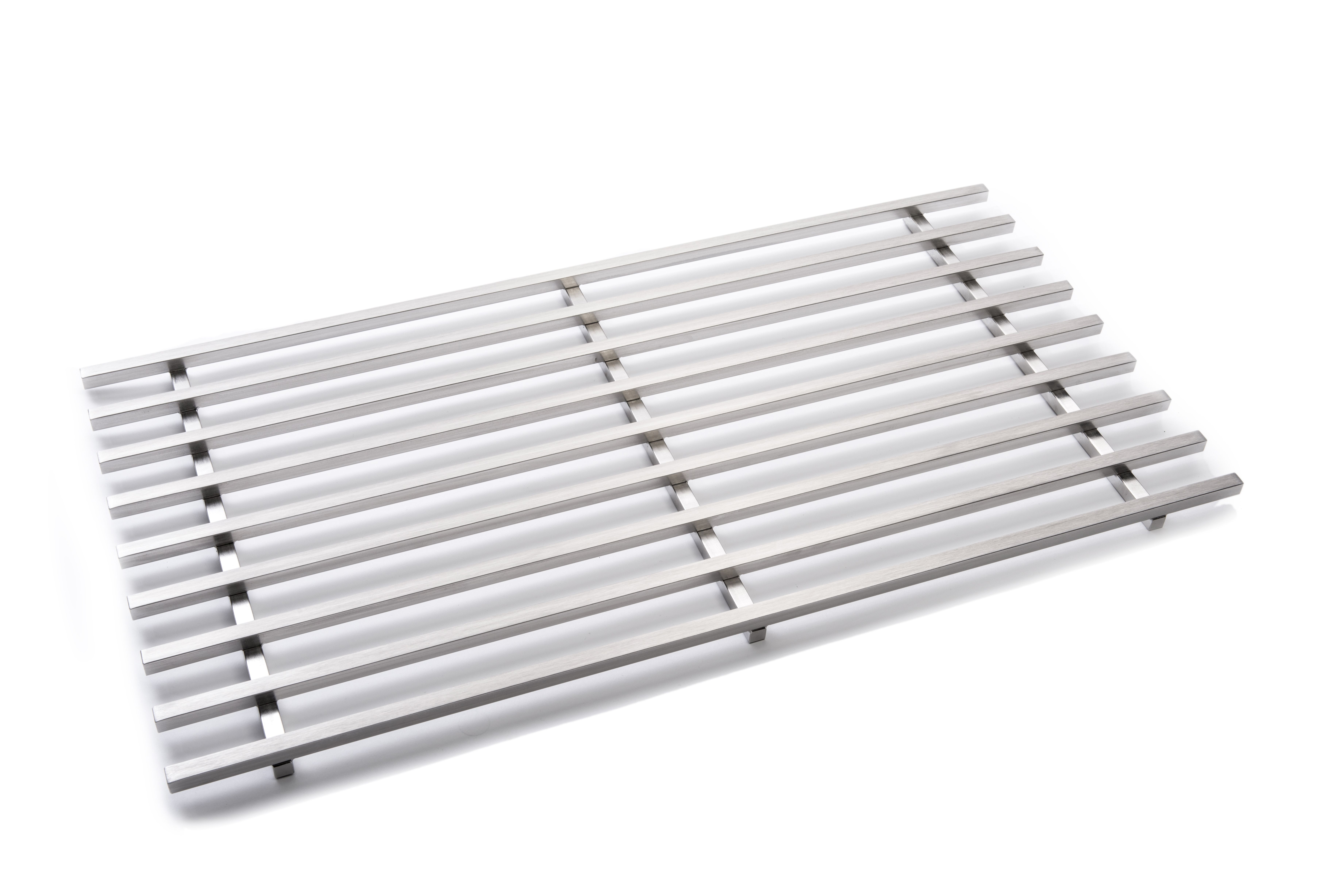 "Rosseto SM193 Multi-Chef™ Extra Large Rectangular Stainless Steel Track Grill 24"" x 12"" x 0.8""H"