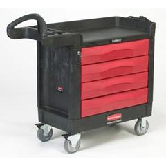 TradeMaster Cart, 4 Drawers, 40-5/8 x 18-3/8 x 33-3/8, Structural Foam, Black