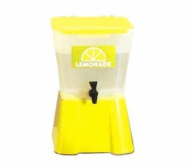 TableCraft 955 Yellow Square 3 Gallon Beverage Dispenser