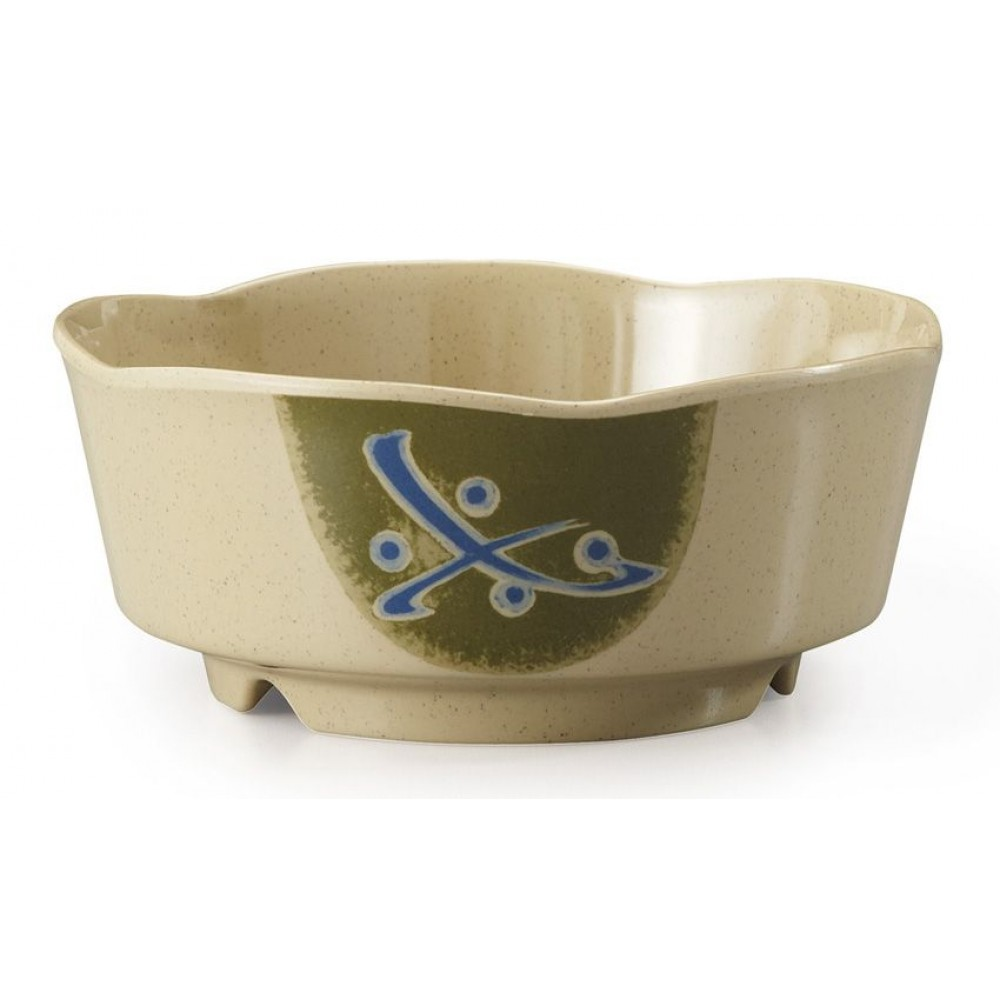 G.E.T. Enterprises 0163-TD Traditional Melamine 16 oz. Scallop Edge Bowl