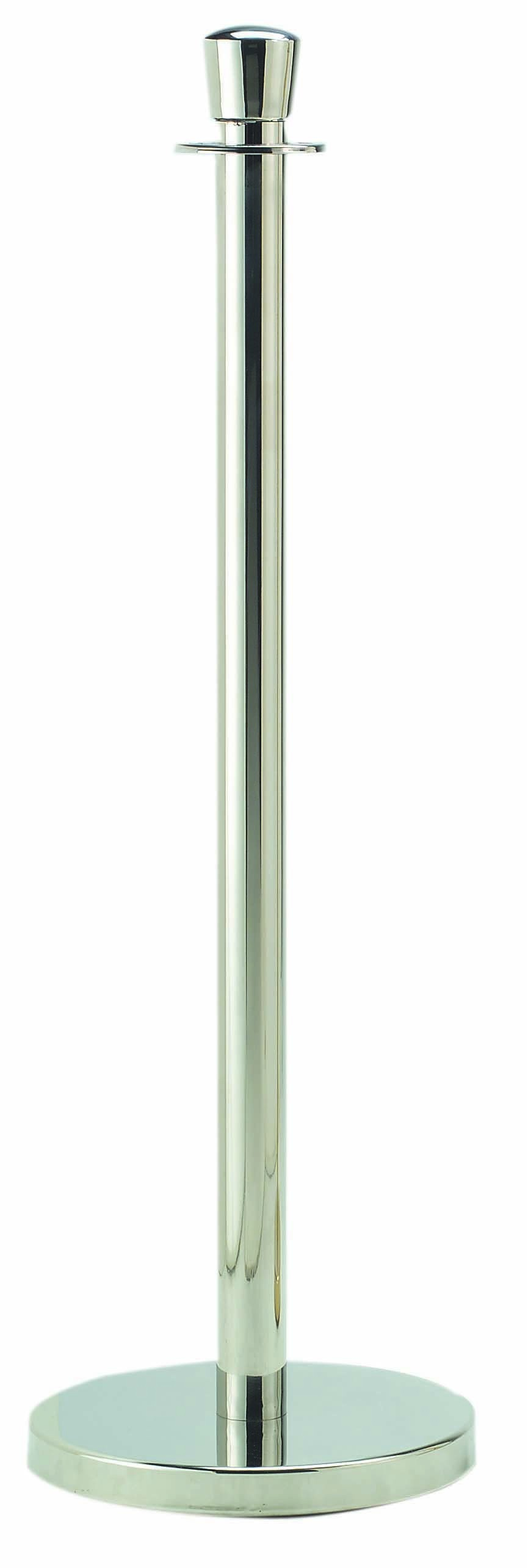 Aarco Products LC-7 Form-A-Line Traditional Rope Post, Chrome