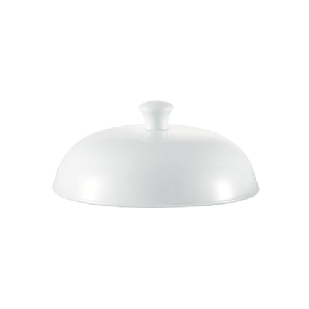 "CAC China TST-W20-LID Transitions 5 3/4"" Porcelain Lid for TST-W20"
