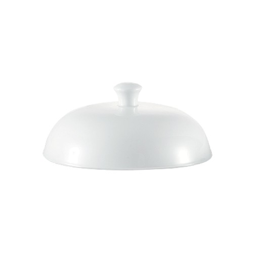 "CAC China TST-W23-LID Transitions 7 1/2"" Porcelain Lid for TST-W23"