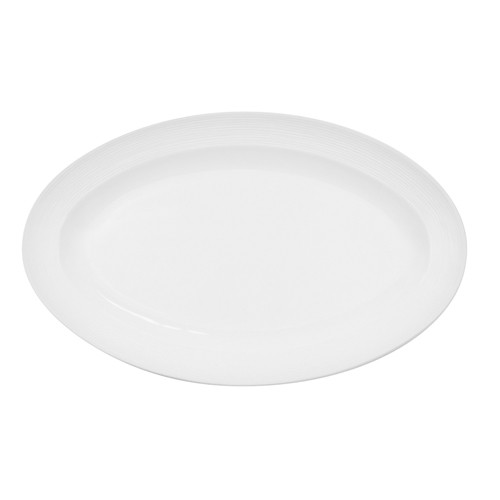 """CAC China TST-12 Transitions Porcelain Oval Platter, 9 1/2"""" x 6 1/4"""""""
